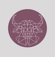 polygonal buffalo head geometric style vector image vector image