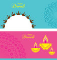 poster for happy diwali with beautiful design vector image vector image