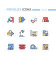 repair - modern line design style icons set vector image