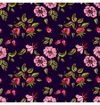 Rose seamless pattern in dark vector image vector image