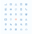 Simple web navigation pictograms collection vector image vector image