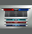 sport scoreboard design elements vector image vector image