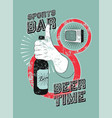 sports bar typographic vintage grunge poster vector image