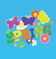 spring with flower and butterfly color vector image vector image