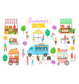 summer fair people on vacation summertime relax vector image vector image