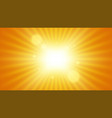sunbeams background sun with rays abstract vector image