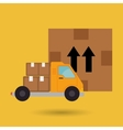 truck delivery shipping cargo vector image