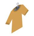 tshirt on hanger icon isometric style vector image