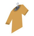 tshirt on hanger icon isometric style vector image vector image