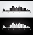 tucson usa skyline and landmarks silhouette vector image vector image