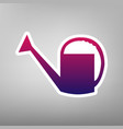 watering sign purple gradient icon on vector image vector image