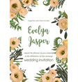 Wedding invite invitation card floral greenery