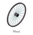 wheel bicycle icon isometric 3d style vector image vector image