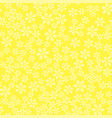 white flower seamless pattern vector image vector image