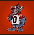 wolfves baseball logo mascot vector image