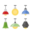 Lamps Set on White Background vector image