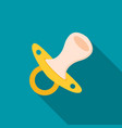 flat baby pacifier icon vector image