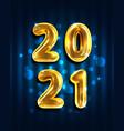 2021 happy new year banner golden luxury text vector image vector image