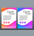 abstract colorful template bright gradient waves vector image vector image