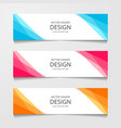 abstract design banner web template layout header vector image vector image
