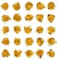 Abstract gold speech bubble EPS 8 vector image vector image