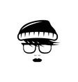 abstract hipster girl retro design template vector image vector image