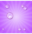 Abstract Violet Retro Background with Water Drops vector image vector image