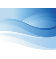 Background of blue wave vector image vector image