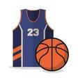 Ball and tshirt of Basketball sport design vector image vector image