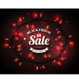 Black Friday Sale shining typographical background vector image vector image