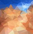 blue sky beige sand polygonal triangular pattern vector image vector image