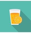 Breakfast Orange Juice Icon in Modern Flat Style vector image vector image