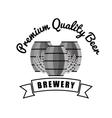 brewery premium quality beer barrels wooden vector image vector image