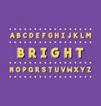 bright font alphabet vector image