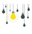 Bulb icons on white background vector image