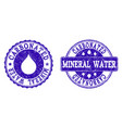 carbonated mineral water grunge stamp seals vector image vector image
