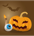 cartoon halloween pumpkin vector image vector image