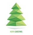 Christmas tree made with triangles isolated on a vector image