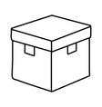 closed box icon black and white vector image
