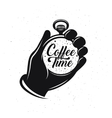 Coffee related creative monochrome poster Pocket vector image vector image