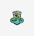 colorful logo emblem mountain bike icon bicycle vector image vector image
