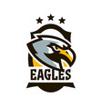 colorful logo sticker emblem of a eagle flying vector image vector image