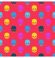 Colorful seamless pattern with skull vector image vector image