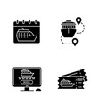 cruise glyph icons set vector image vector image