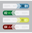 Design number banners template graphic or website vector image vector image