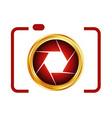 Digital Camera- photography logo vector image vector image