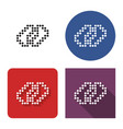 dotted icon chain in four variants with short vector image