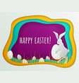 easter concept with bunny and hidden eggs vector image vector image