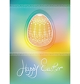 Easter egg card design with folk decoration vector image vector image