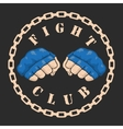 emblem about fighting club Monochrome graphic vector image vector image